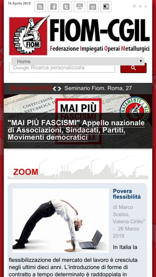 Mobile preview of fiom-cgil.it
