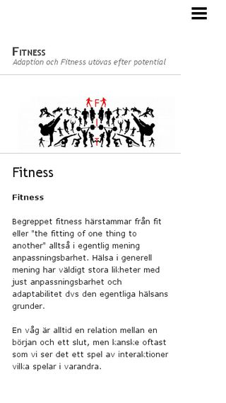 Mobile preview of fitness.n.nu