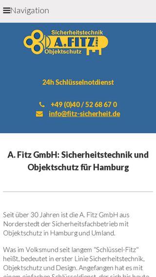 Mobile preview of fitz-sicherheit.de