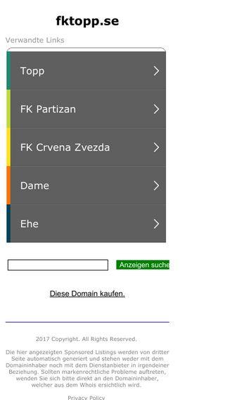 Mobile preview of fktopp.se