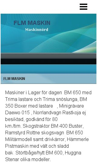 Mobile preview of flmmaskin.se
