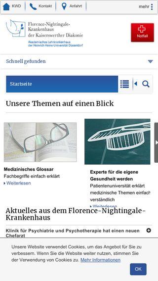 Mobile preview of florence-nightingale-krankenhaus.de
