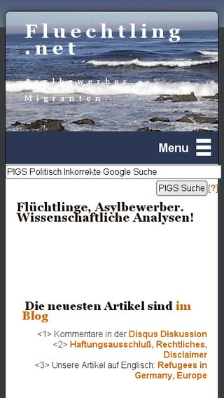 Mobile preview of fluechtling.net