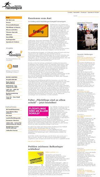 Mobile preview of fluechtlingsrat-bayern.de
