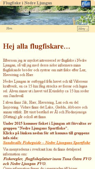 Mobile preview of flugfiskenedreljungan.se