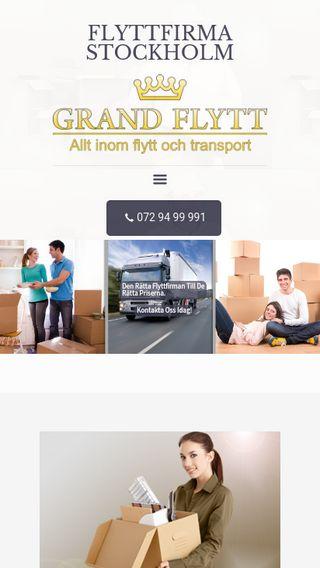 Mobile preview of flyttfirmanstockholm.nu