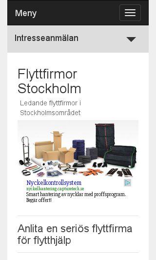 Mobile preview of flyttfirmorstockholm.se