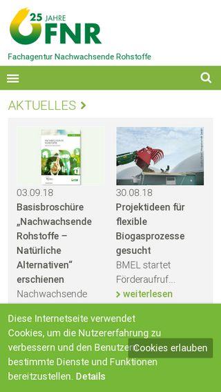 Mobile preview of fnr.de