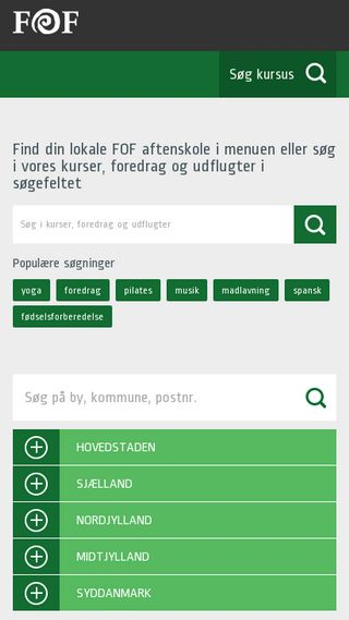 Mobile preview of fof.dk