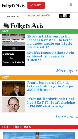Mobile preview of folkets.dk