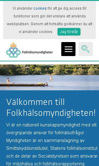 Mobile preview of folkhalsomyndigheten.se