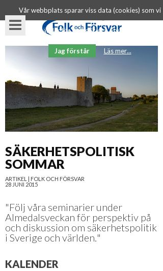 Mobile preview of folkochforsvar.se