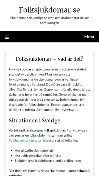 Mobile preview of folksjukdomar.se