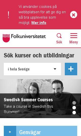 Mobile preview of folkuniversitetet.se