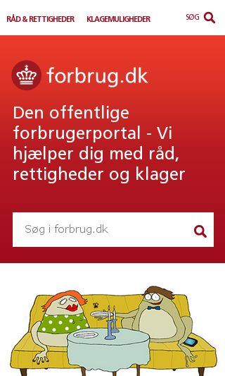 Mobile preview of forbrug.dk
