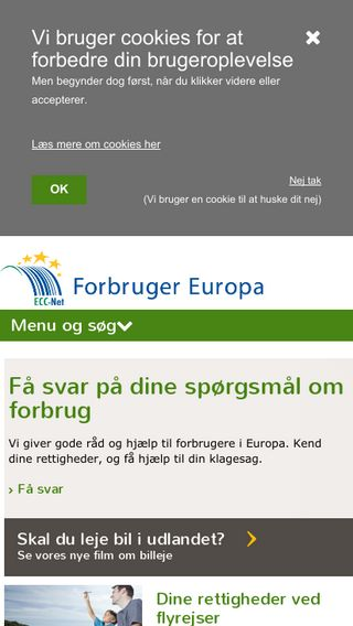 Mobile preview of forbrugereuropa.dk