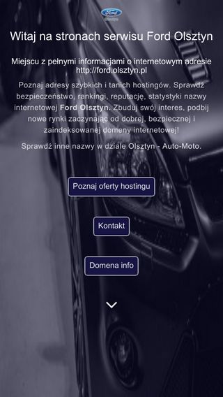 Mobile preview of ford.olsztyn.pl