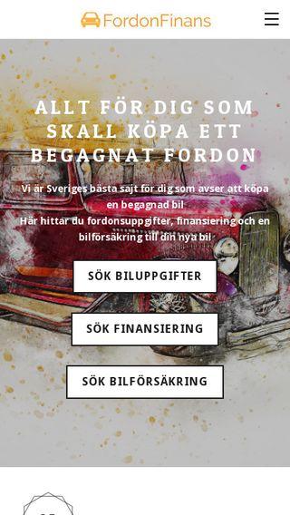 Mobile preview of fordonfinans.se