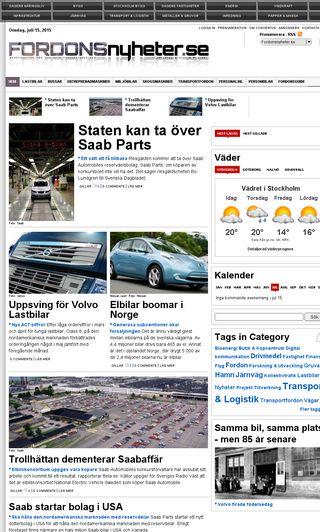 Mobile preview of fordonsnyheter.se