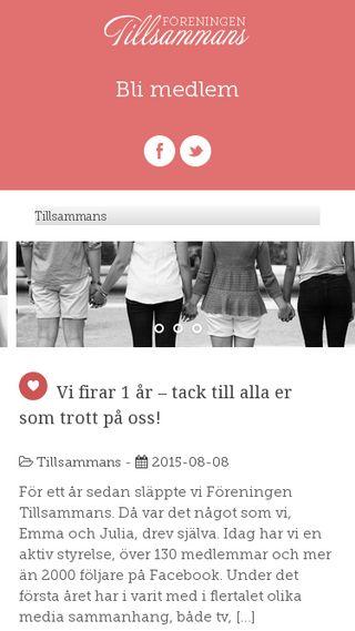 Mobile preview of foreningentillsammans.se