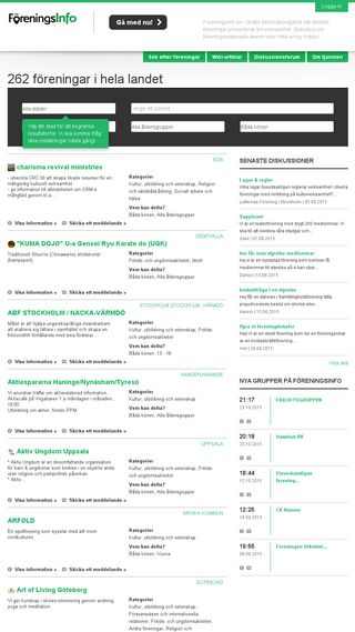 Mobile preview of foreningsinfo.se