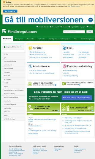 Mobile preview of forsakringskassan.se
