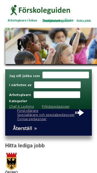 Mobile preview of forskoleguiden.se