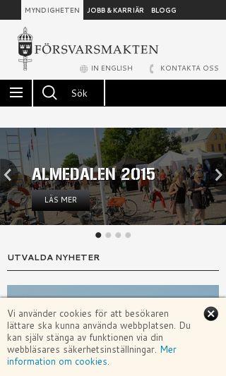 Mobile preview of forsvarsmakten.se