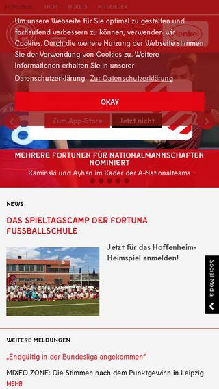 Mobile preview of fortuna-duesseldorf.de
