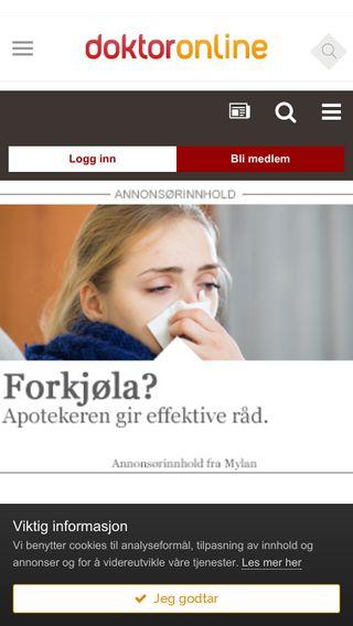 Mobile preview of forum.doktoronline.no