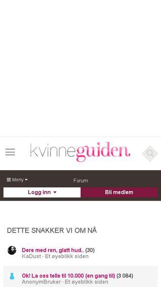 Mobile preview of forum.kvinneguiden.no