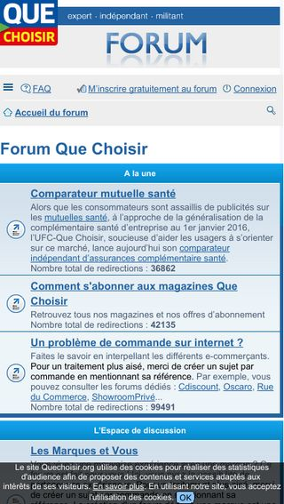 Mobile preview of forum.quechoisir.org