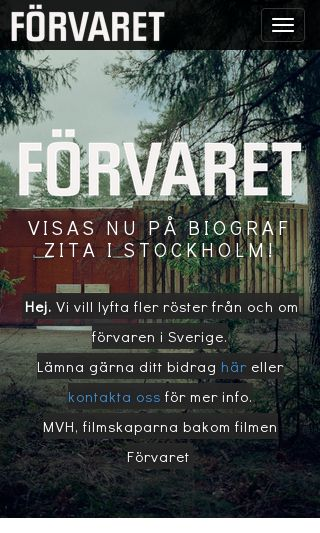 Mobile preview of forvaret.se