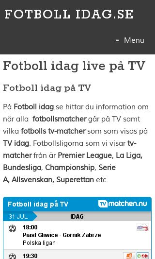 Mobile preview of fotbollidag.se