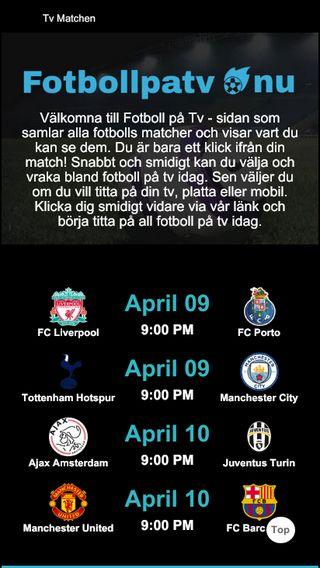Mobile preview of fotbollpatv.nu