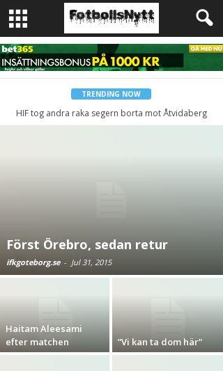 Mobile preview of fotbollsnytt.nu