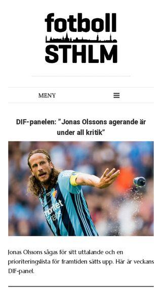 Mobile preview of fotbollsthlm.se