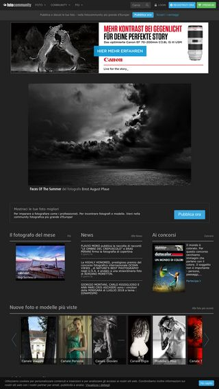 Mobile preview of fotocommunity.it