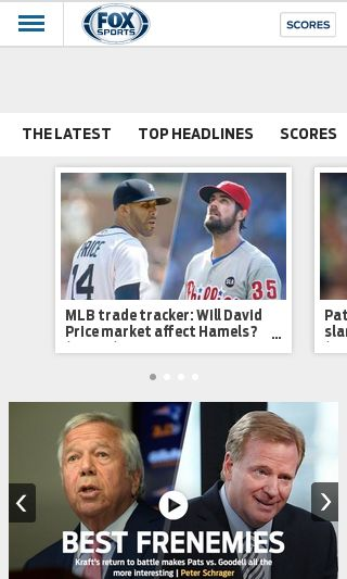 Mobile preview of foxsports.com