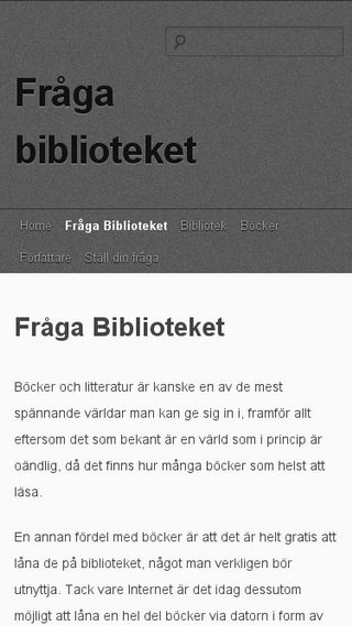 Mobile preview of fragabiblioteket.nu