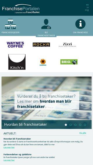 Mobile preview of franchiseportalen.no