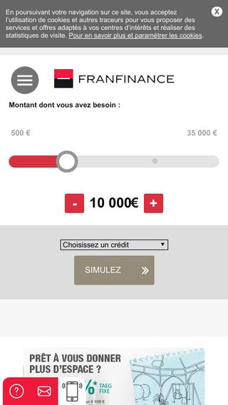 Mobile preview of franfinance.fr