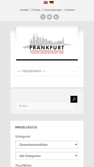 Mobile preview of frankfurt-business.net