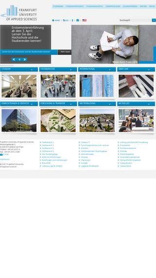 Mobile preview of frankfurt-university.de