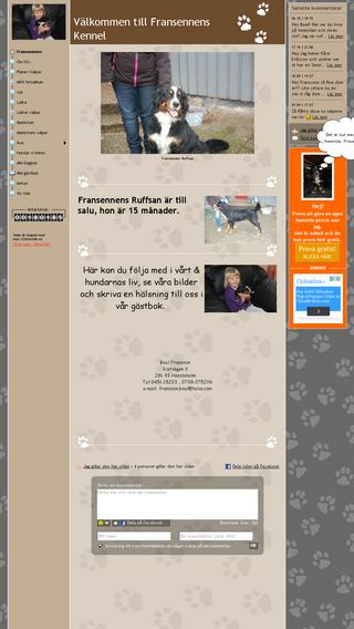 Mobile preview of fransennens-kennel.se
