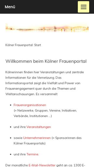 Mobile preview of frauenportal.koeln