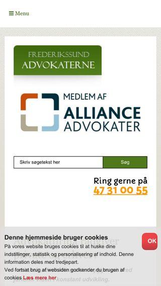 Mobile preview of frederikssundadvokaterne.dk
