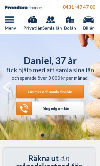 Mobile preview of freedomfinance.se