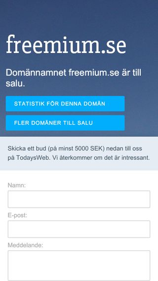 Mobile preview of freemium.se
