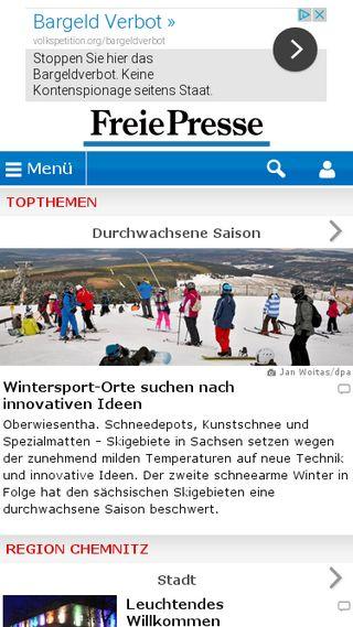 Mobile preview of freiepresse.de